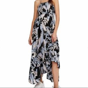 free prople heat wave floral high low dress L